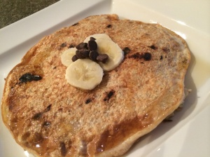 Banana Chocolate Chip Protein Pancake