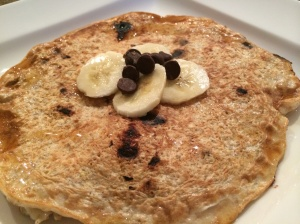 Banana Chocolate Chip Protein Pancake_2