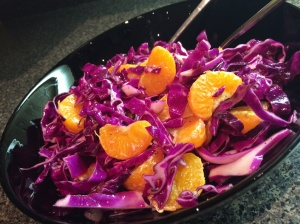 Purple Cabbage and Mandarin Fusion Slaw